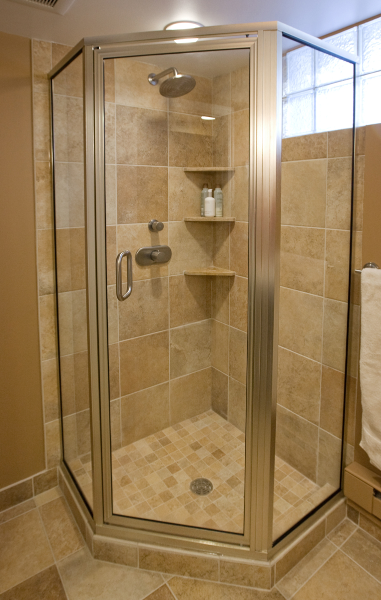 Tiled Corner Showers Inviting Home Design