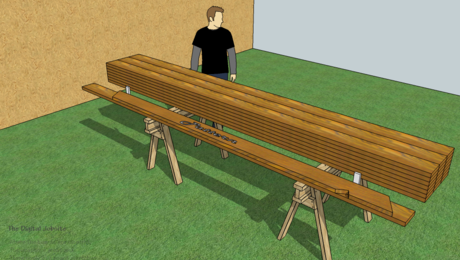Figuring Dimensions for a Rafter Pattern the SketchUp way