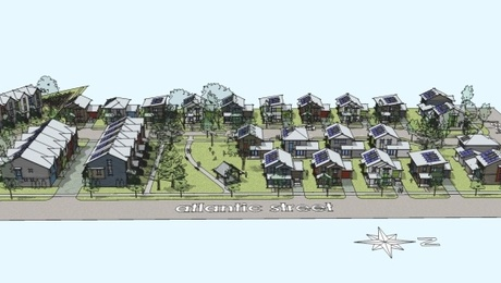 The homes in this 35-unit housing project, proposed by the McMinnville Area Habitat for Humanity, in northwest Oregon, are designed to be energy efficient as well as affordable.