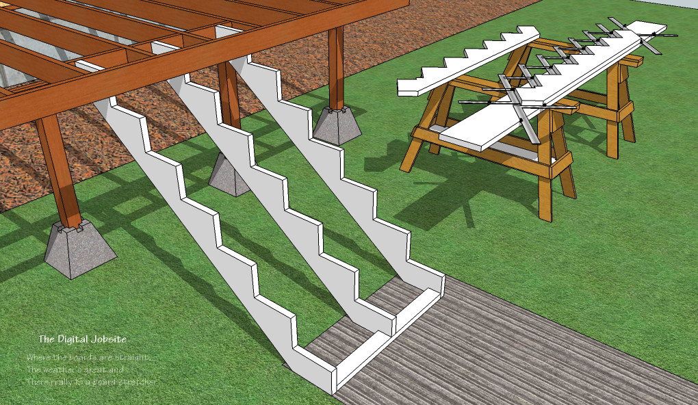 Deck Stair Layout 101