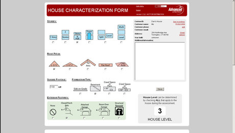 The leaks in houses happen where the boxes connect: roofs to walls, walls to floors and floors to foundations. Advanced Energy's House characterization software (currently in beta) helps you get a handle on potential trouble spots before you visit the job site.