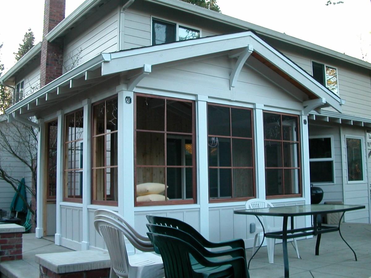 Patio and screen porch fine homebuilding for Homebuilding com