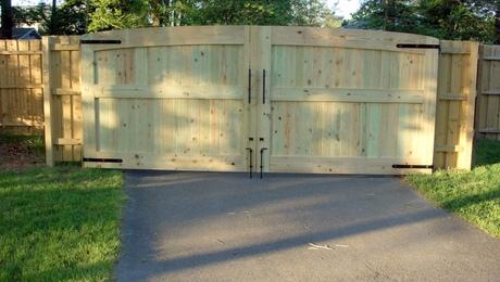 Driveway Gates 16 feet wide total