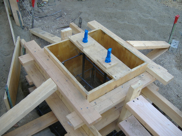 How to form a custom concrete pier for a porch fine for How to build a post and pier foundation