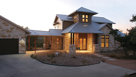 This home in Driftwood, Texas, captures net-zero efficiency in an attractive, affordable house. Go to FineHomebuilding.com/houses for more photos and a video tour of this and our other award-winning homes.