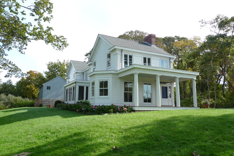 Greek revival farmhouse fine homebuilding for Fine home building