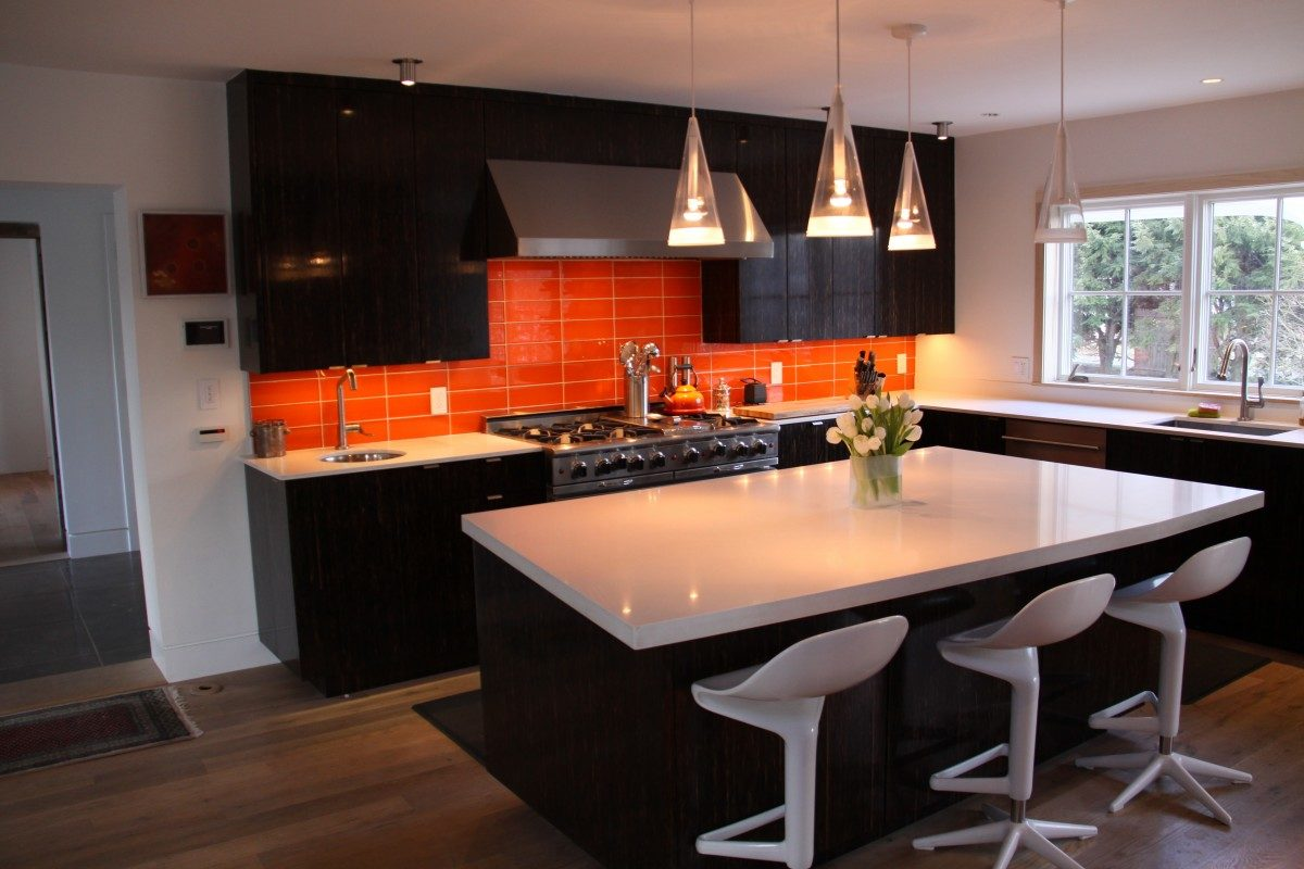 Orange And White Kitchen 43 Church Street Kitchen