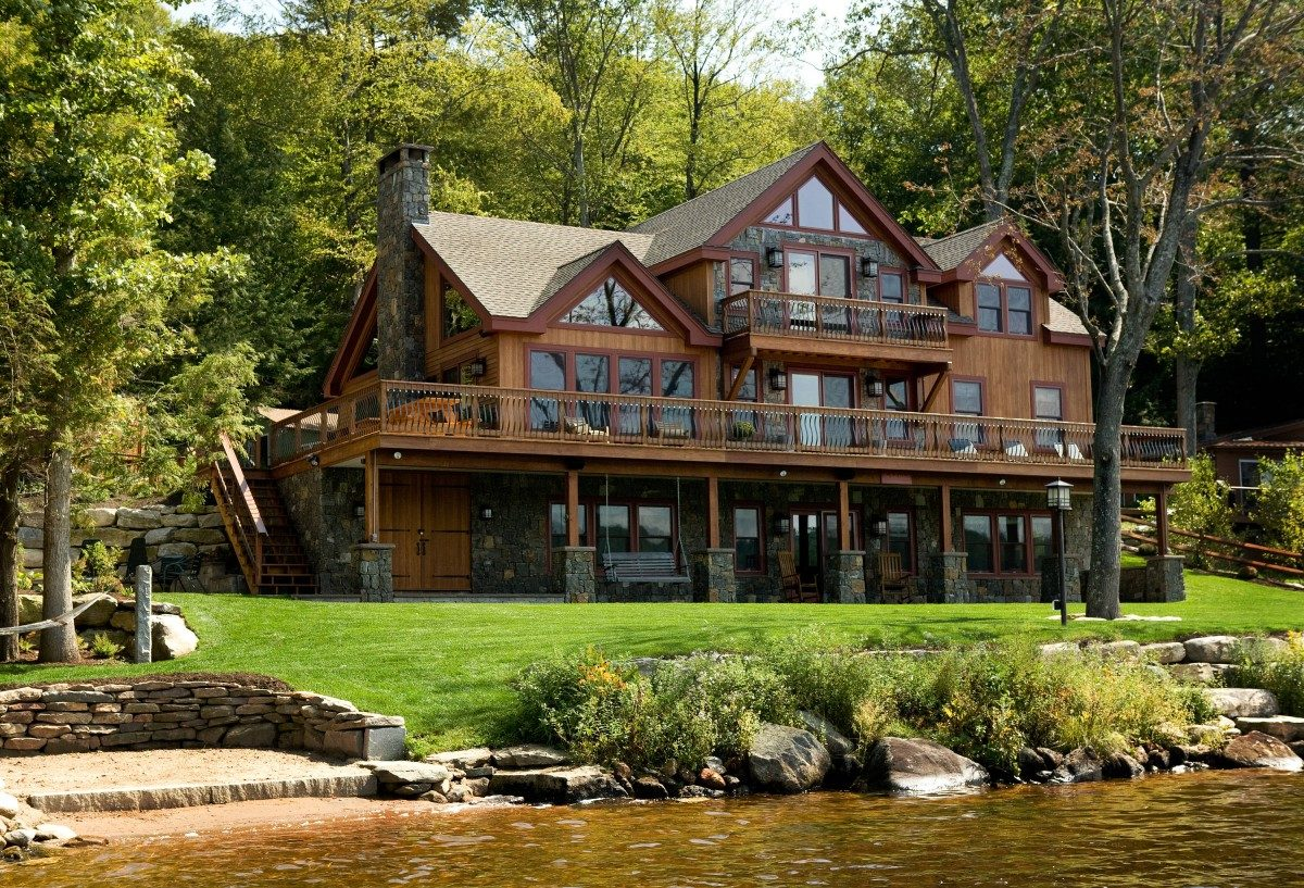 Lakeside living is all in the family fine homebuilding for One story lake house plans