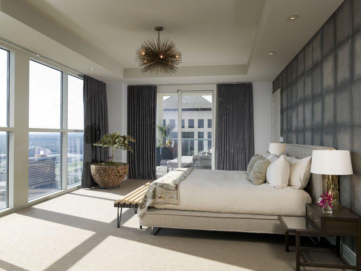 Downtown high rise luxury condo remodel fine homebuilding for Condo bedroom design