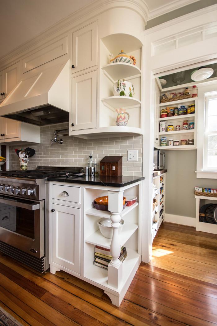 Revitalization of a greek revival kitchen fine homebuilding for Greek kitchen designs