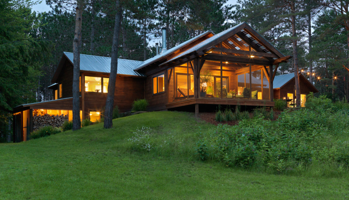 Contemporary camp in the woods fine homebuilding for Fine homebuilding houses