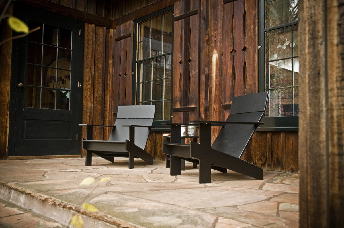 The Classic Adirondack Chair Shape Helps These Modern Chairs Look Just As  Comfortable By An Old Cabin As They Would Behind Any Contemporary Home Part 68