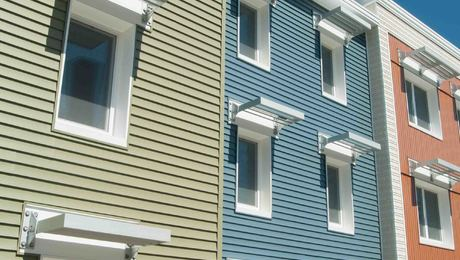 The Village Centre Housing Projectin Brewer, Maine, is designed as affordable workforce housing and was constructed under strict budget constraints. It came in at less than $140 a square foot.