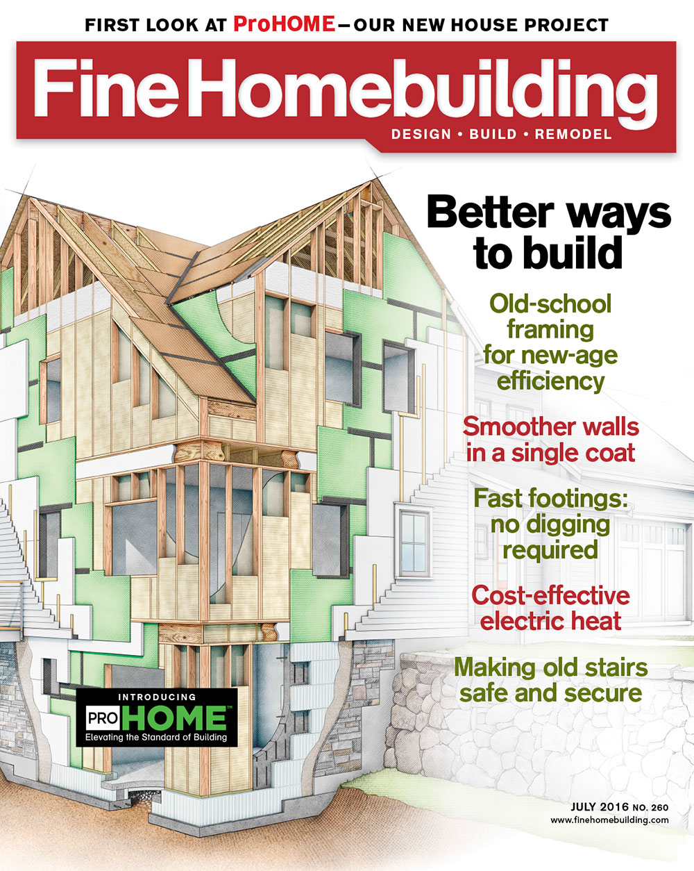Issue 260 june july 2016 fine homebuilding for Fine home building