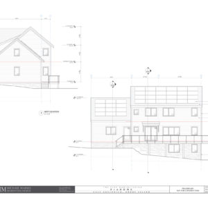 South (back) and west elevations of the final ProHome design.