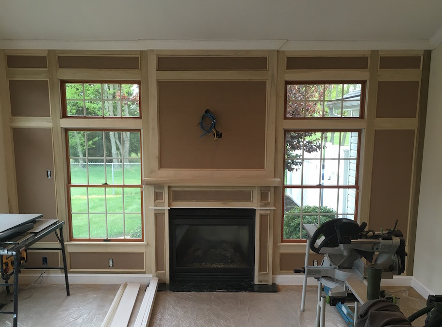 How To Layout A Paneled Fireplace Wall Fine Homebuilding