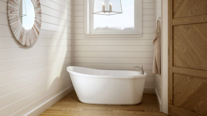 The Idea Of A Installing A Deep, Freestanding Tub In The Average Bathroom  May Seem A Bit Over The Top. But The Arietta Tub By Jacuzzi Is Sized To Fit  In ...