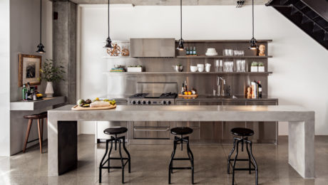 Concrete & Steel Kitchen