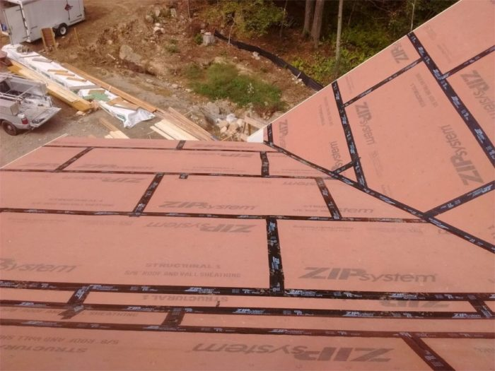Roof underlayment over zip belt and suspenders or for Roof sheathing material