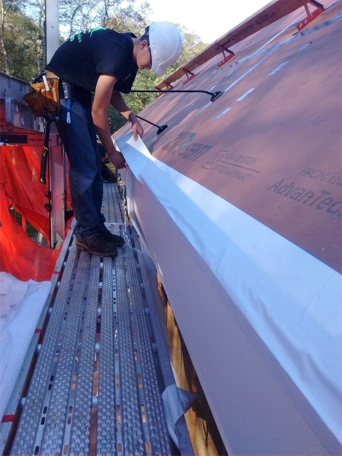 Eave Protection Membrane : Ice dam protection over or under eave drip edge fine