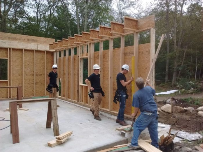 Wall Framing garage-wall framing: gable - fine homebuilding