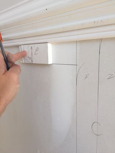 Now That All Of The Lines Are Marked, Measure The Base Cap Molding Pieces  Using The Box Dimensions You Have Drawn On The Wall. I Apply A Bead Of  Paintable ...