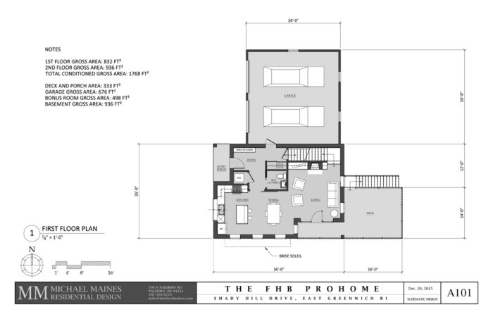 SCHEMATIC DESIGN 1: FIRST FLOOR PLAN