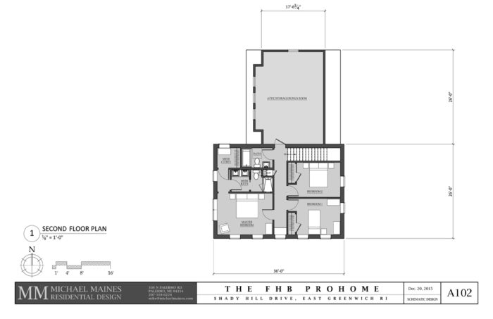 SCHEMATIC DESIGN 1: SECOND FLOOR PLAN