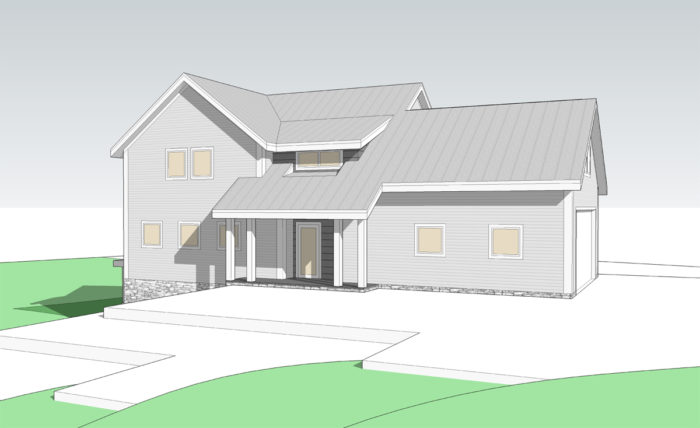 SCHEMATIC DESIGN 2: FRONT ELEVATION