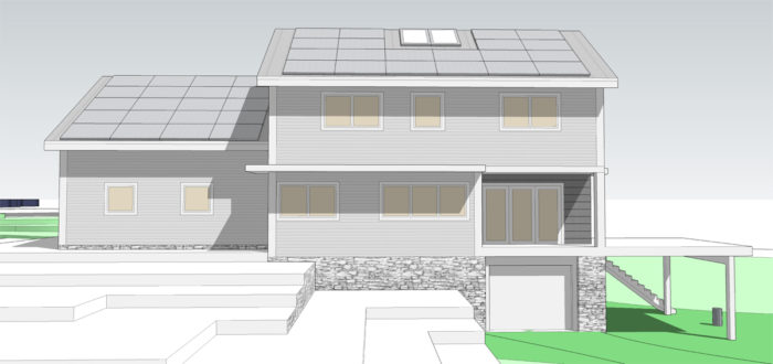SCHEMATIC DESIGN 2: REAR ELEVATION