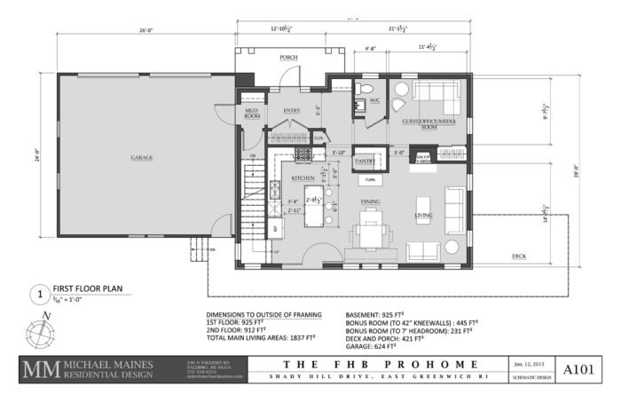 SCHEMATIC DESIGN 4: FIRST FLOOR PLAN
