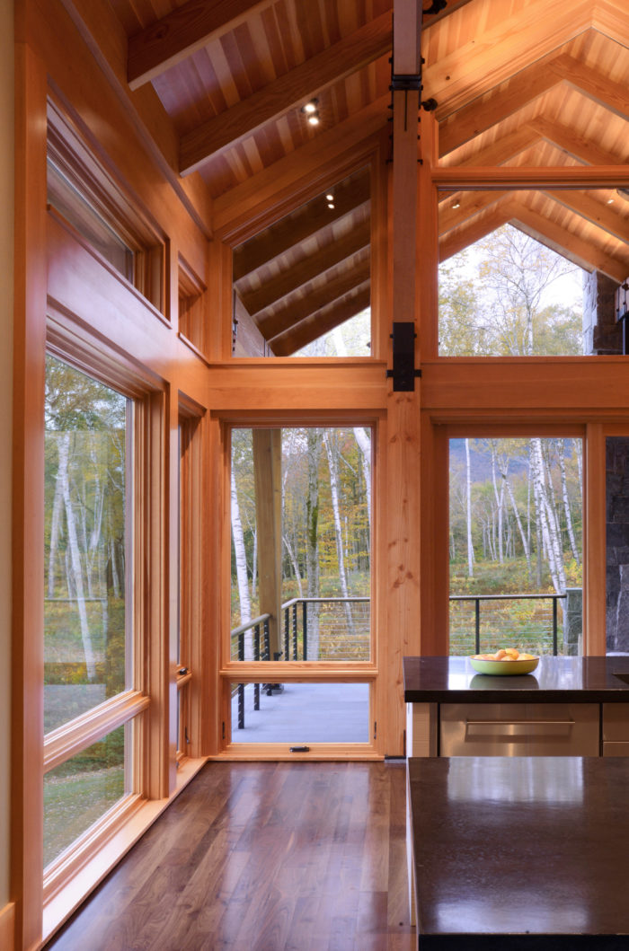 Let no light be lost. Windows extend all the way to the peak roof to open up the space to incredible heights.
