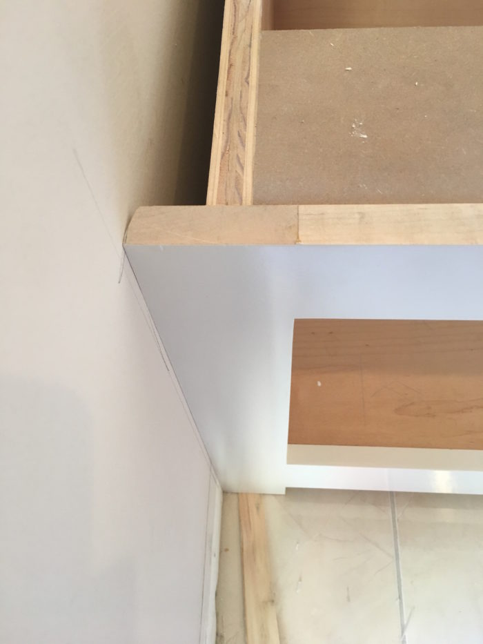 Fitting A Cabinet Between Two Walls Fine Homebuilding