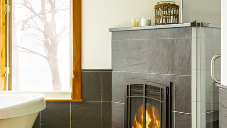 Bathroom-fireplace