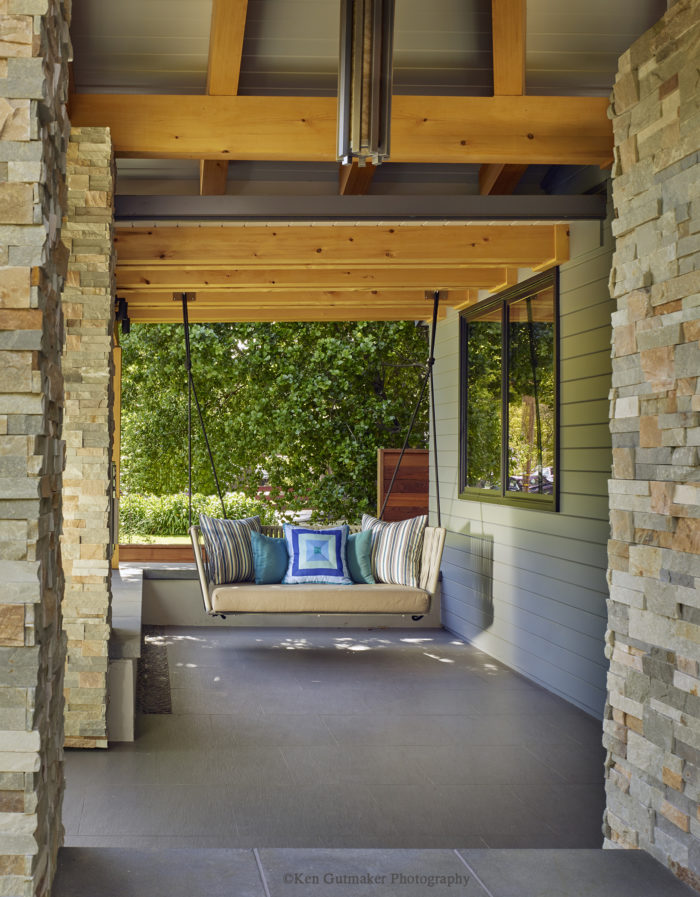 Front porch swing fine homebuilding for Small porch swing ideas