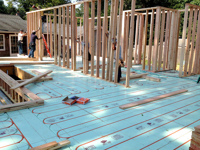 Installing radiant floor heating fine homebuilding for Warmboard cost