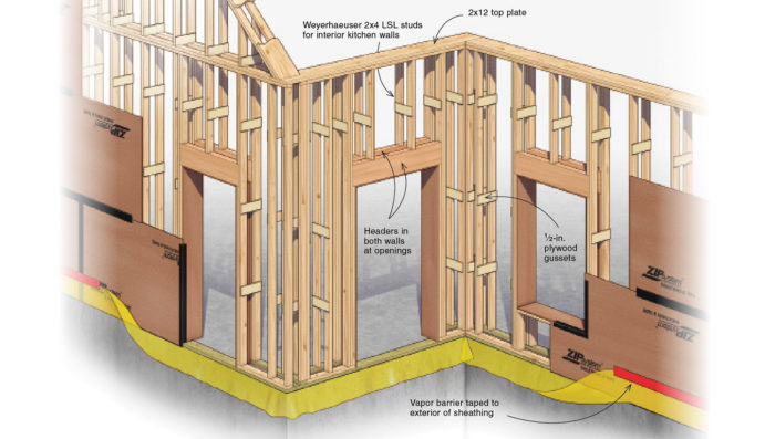 Builder Innovates On The Double Stud Thick Wall For More
