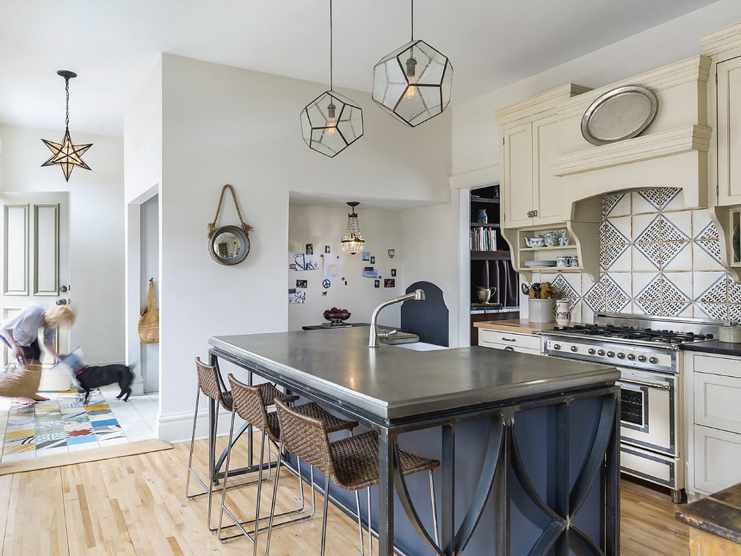a home kitchen designed for restaurant owners