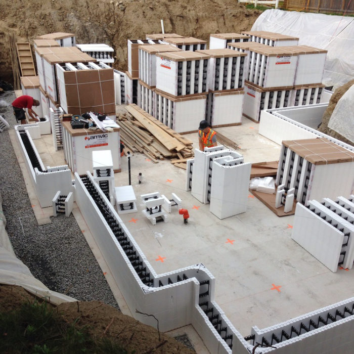 Insulated concrete forms the perfect choice for energy for Concrete block construction homes