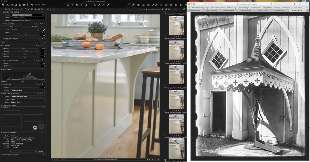 detail echoed in kitchen counter design
