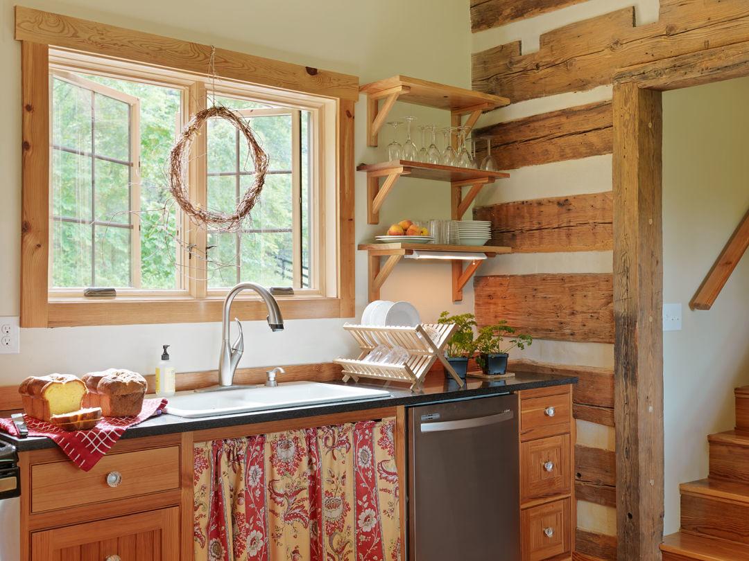 compact cabin kitchen