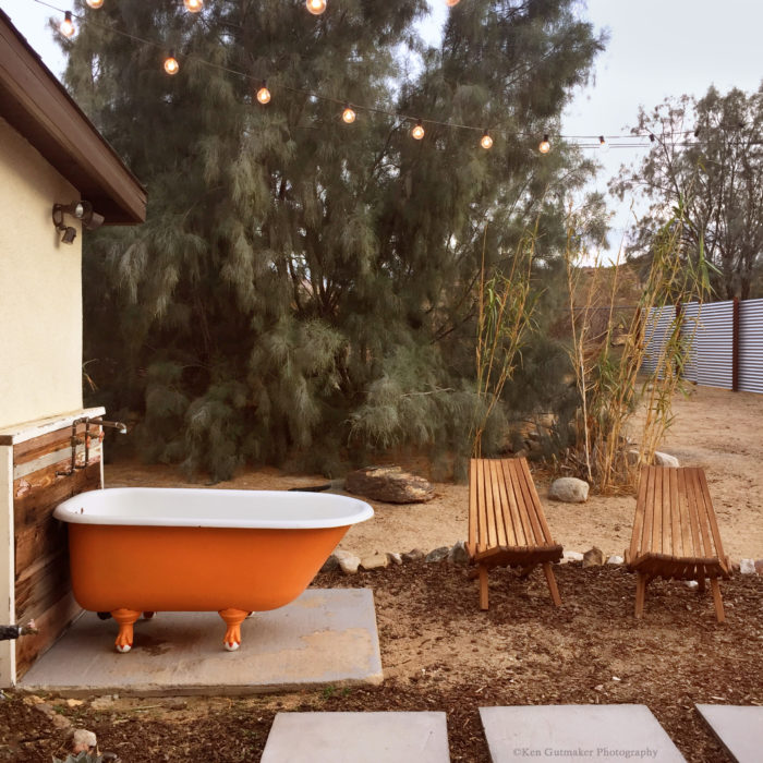 The simple pleasures of an outdoor tub fine homebuilding for Jack and jill bathroom with hall access