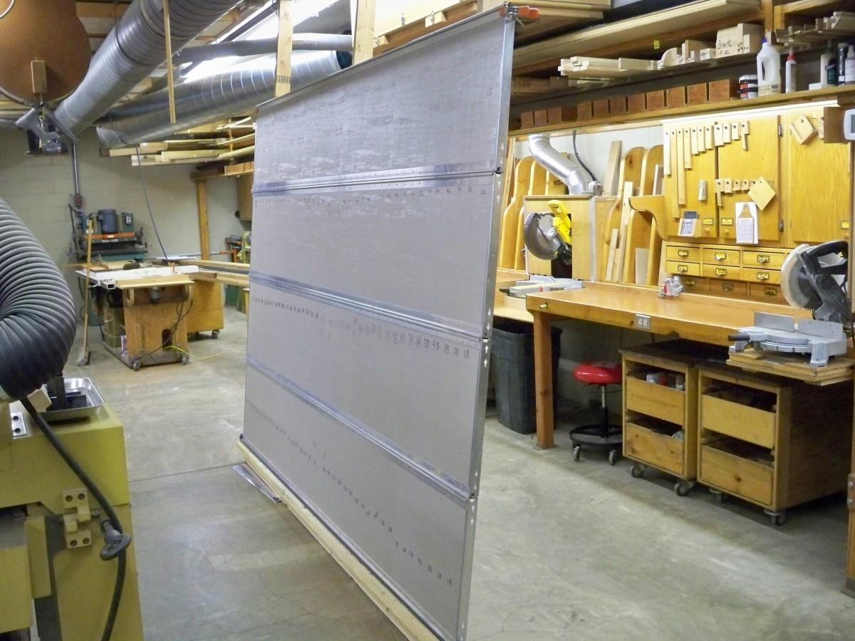 Garage door veneers itu0027s the top portion above the for Wood veneer garage doors