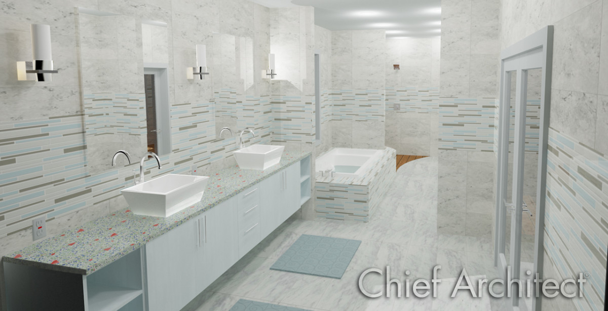2012 Master Bath Sample Plan By Chief Architect Fine Homebuilding