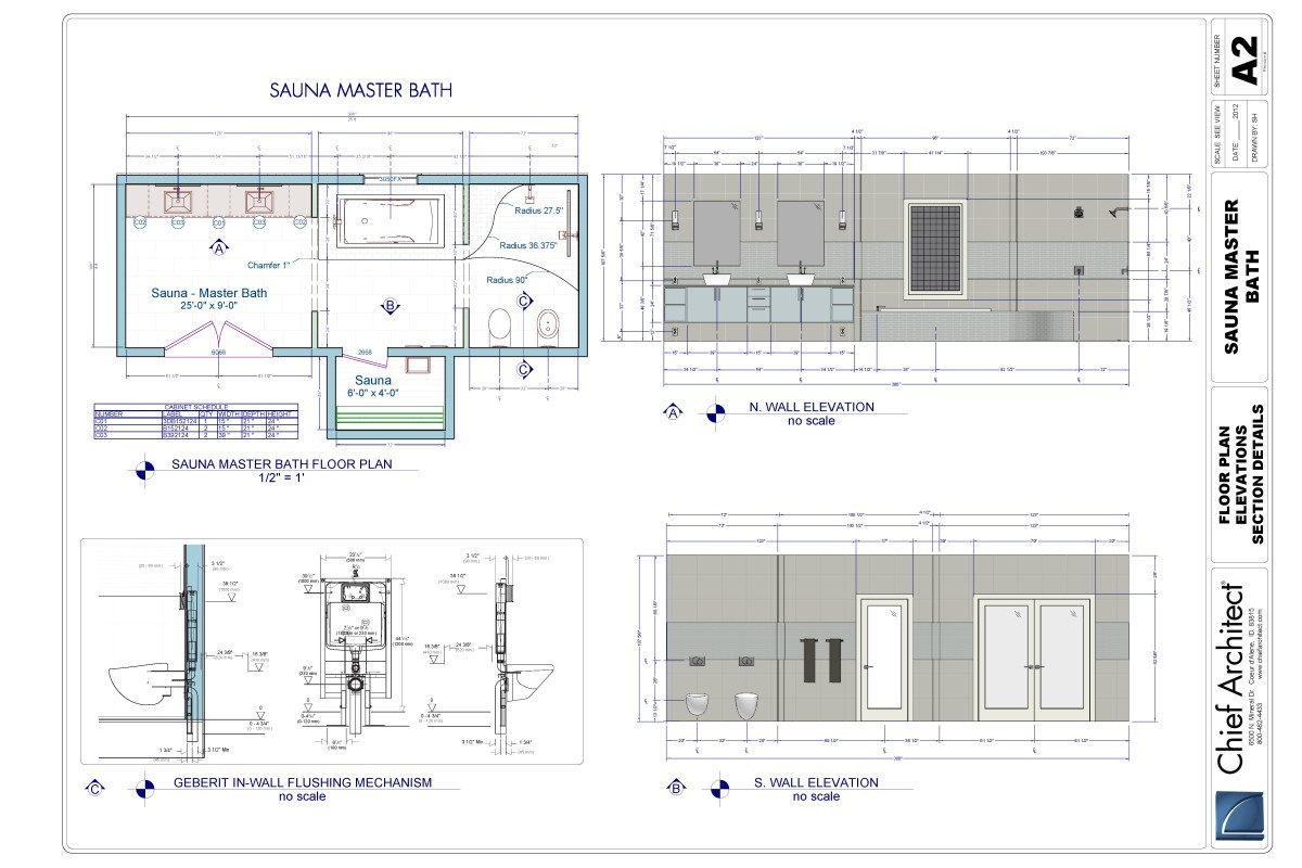 2012 Master Bath Sample Plan By Chief Architect Fine