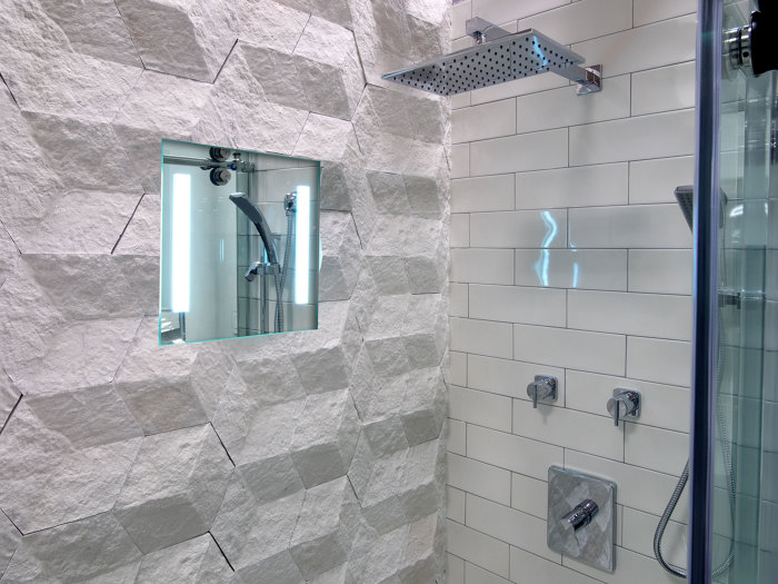 ClearMirror Has Expanded Its ShowerLite Offerings To Include A 12 In. By 24  In. Version Of The Light Equipped Fog Free Shower Mirrors.