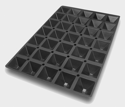 Photo of Silikomart Professional SQ Series Pyramids Silicone Mold View 1