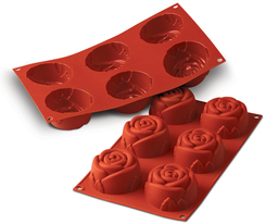 Photo of Silikomart Rose Professional Silicone Mold View 1