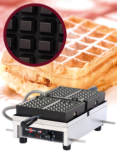 "Photo of Krampouz Commercial Waffle Maker - 4 x 6 Bruxelles (240V) ""WECDBAAT"" View 1"