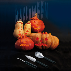 Photo of triangle Pumpkin Carving Set, 3 pieces View 1